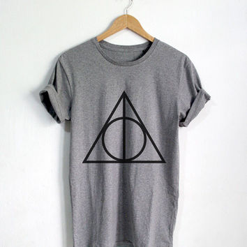 2017 Cute tee Deathly Hallows shirt Harry Potter t shirt Harry Potter clothing Unisex T-Shirt More Size and Colors-B394(A695)