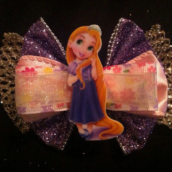 LAST ONE Rapunzel Inspired Sparkle Bow
