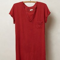 Raw-Edge V-Neck by t.la