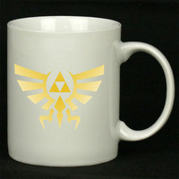 The Legend of ZELDA Triforce logo Nintendo gamer For Ceramic Mugs Coffee *