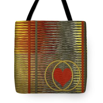 """Portrait Of A Heart Tote Bag for Sale by Ben and Raisa Gertsberg (18"""" x 18"""")"""