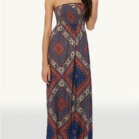 Lattice Back Maxi Dress
