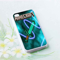 New Minecraft Creeper Sword customized for iphone 4/4s/5/5s/5c, samsung galaxy s3/s4/s5 and ipod 4/5 cases