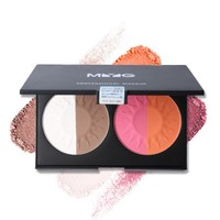 4 Color Gradient Blush Natural Soft Blusher Powder Palette Bronzer and Highlighter Cheek Bare Contouring Make Up Set Face Blush