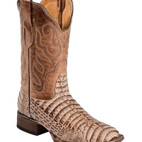 Tanner Mark Gator Belly Print Cowboy Boots - Square Toe - Sheplers