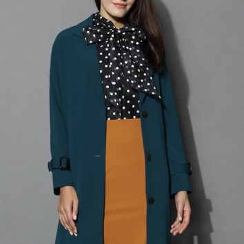 Emerald Green Longline Cocoon Coat