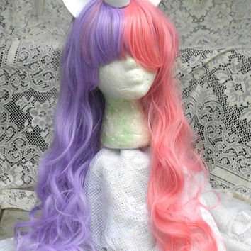 Sweetie Belle Unicorn Wig, Pink and Purple, Unicorn Costume, Unicorn Horn, cosplay, Costume Ready to Ship Long My Little Pony, MLP, curly