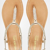 Head Over Heels By Dune Nonita Gold Embellished Flat Sandals