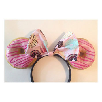Pink Swirl Donut Minnie Ears