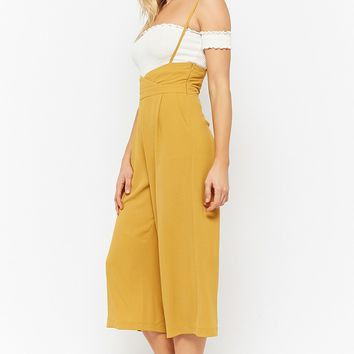 Suspender Wide-Leg Pants