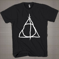 The Deathly Hallows  Mens and Women T-Shirt Available Color Black And White
