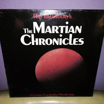 Rare Vinyl Record The Martian Chronicles Ray Bradbury LP 1976 SciFi Classics