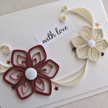Best paper quilling greeting cards products on wanelo handmade paper quilled greeting card with love m4hsunfo
