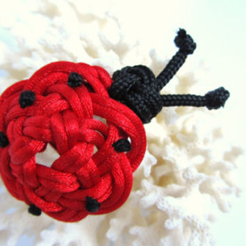 Ladybug Clip Bag Charm Hat Clip Brooch ID Badge Clip Lapel Pin Hair Bow Barrette Gift Bow Chinese Knotting Animal Photo Prop Backpack Charm