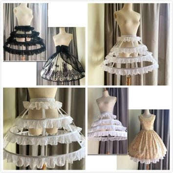 3 Hoops 2017 Hollow Petticoats for Lolita Dress Crinoline Underskirt Accessories ZHS17-04241