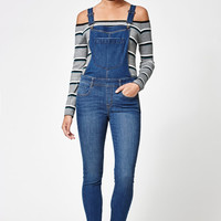 Kendall and Kylie Jessica Wash Skinny Overalls at PacSun.com