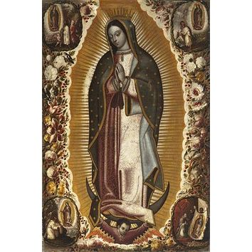 LADY GUADALUPE POSTER Manuel de Arellano 1691 - Virgin RARE HOT NEW 24x36