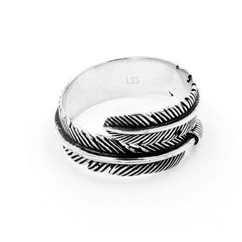 Birds of a Feather- Sterling Silver Wrap Ring