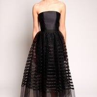 Tulle Ribbon Overlay Dress