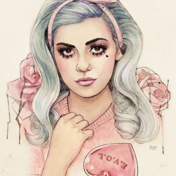 L.O.V.E | E.V.O.L Art Print by Helen Green | Society6