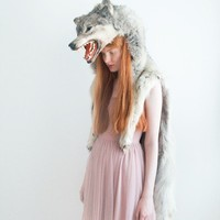 Girl with wolf II signed photograph 8x12 by silversaga on Etsy