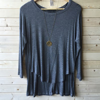 An Edgy Life Top in Grey
