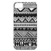 Black White Aztec Geometric Tribal Pattern iPhone 5 Cases