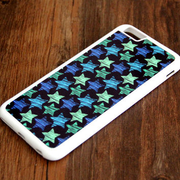 Turquoise Blue Stars iPhone 6s 6 plus case iPhone 6s rubber case iPhone 5s 5 5c silicone case iPhone 6 Case