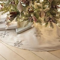 Enchanted Winter Snowflake Tree Skirt - Christmas Tree Skirts | HomeDecorators.com