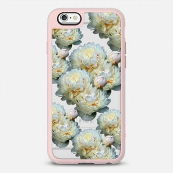WHITE PEONIES iPhone 6s case by austeja platukyte | Casetify