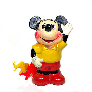 Vintage Mickey Mouse Bank Figurine 1970s Made in Japan