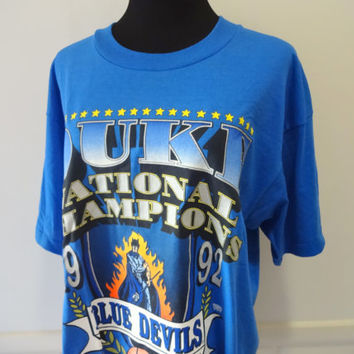 Vintage Duke National Champions T-Shirt 1992