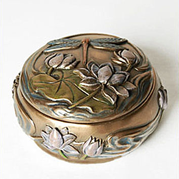 Arts and Crafts Dragonfly Trinket Box