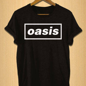 oasis shirt for women and men shirt black white and grey t-shirt S M L XL XXL size available