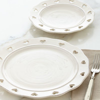 Caterina Heart Salad & Dinner Plates
