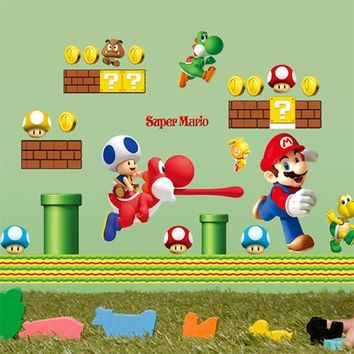 Super Mario party nes switch popular cartoon game hot sale  wall sticker funny boys girls love kids room decoration child gifts stickers AT_80_8