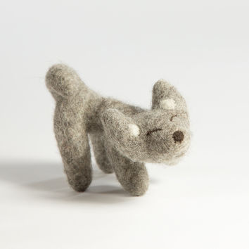 FELTED WOLF FRIEND