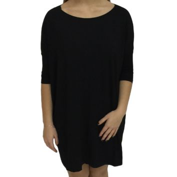 Black Piko Tunic Half Sleeve Top