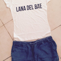 Lana Del Bae t-shirts for women gifts t-shirt womens girls tumblr funny teens teenagers quotes slogan fun