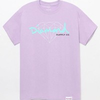 VONE05W Diamond Supply Co Diamond Script T-Shirt