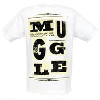 Harry Potter Muggle Scrap Logo Adult T-Shirt | WBshop.com | Warner Bros.