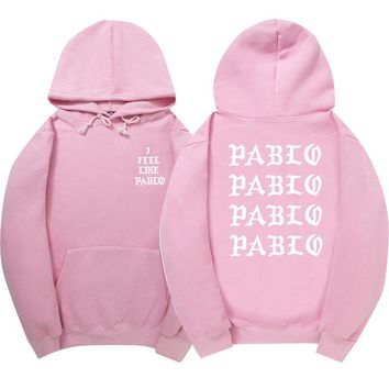 2017 High Quality Kanye West Mens Sweatshirt Hoodie Men Pink Skateboards Hoodie Male Cotton Sweat Kanye West clothing ONE A CAKE