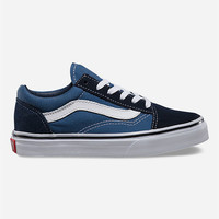 Vans Old Skool Boys Shoes Navy/True White  In Sizes