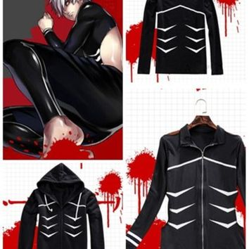 Men Women Anime Tokyo Ghouls Kaneki Ken Cosplay Costume Coat Hoodie Pants M L XL