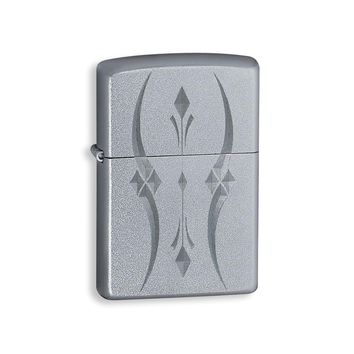 Zippo Pristine Curves Satin Chrome Lighter - Engravable Personalized Gift Item
