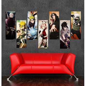 High Quality Japanese Anime Canvas Cartoon Naruto Cuadros Unframed Oil Painting by Numbers Wall Art Picture Home Decoration