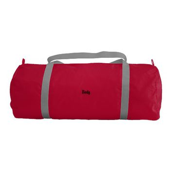 Custom Duffle Gym Bag, Red with Silver straps Duffle Bag