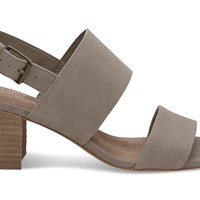 DESERT TAUPE SUEDE HEMP WOMEN'S POPPY SANDALS