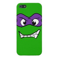 Purple Mask Green Half Shell Hero Iphone 5 Case from Zazzle.com