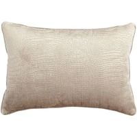 Embossed Faux Snake Lumbar Pillow - Champagne